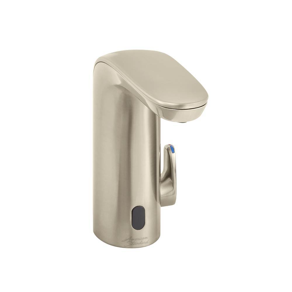 Battery-Powered American Standard 7025215.295 Paradigm Selectronic Integrated Faucet with Above-Deck Mixing Brushed Nickel 1.5 gpm